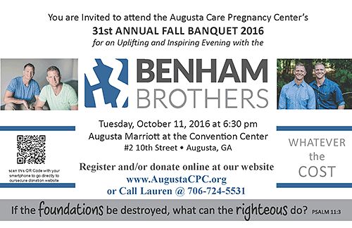 2016 Banquet | Augusta Care Pregnancy Center