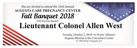 Fall Banquet 2018 Flyer Top | Augusta Care Pregnancy Center